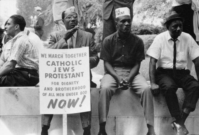 The civil rights march from Selma to Montgomery, Alabama, in 1965 - foto preluat de pe en.wikipedia.org