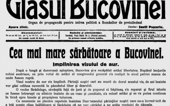 Unirea Bucovinei cu România (15 s.v./28 s.n. noiembrie 1918 - foto preluat de pe istorie-pe-scurt.ro