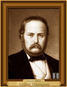 Andrei Mureșanu, scris și Mureșianu, (n. 16 noiembrie 1816, Bistrița - d. 12 octombrie 1863, Brașov), poet și revoluționar român din Transilvania - foto: cersipamantromanesc.wordpress.com