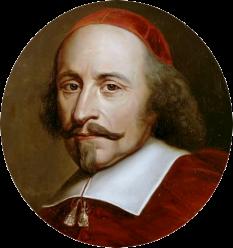 """Jules Mazarin, născut Giulio Raimondo Mazzarino (n. 14 iulie 1602, Pescina, Regatul de Neapole – d. 9 martie 1661, Vincennes, Franța) a fost un cardinal, diplomat și politician italian, care a fost prim ministru al Franței din 1642 până la moartea sa. Mazarin i-a succedat mentorului său, Cardinalul Richelieu. Era un colecționar de artă și bijuterii, în special de diamante, pe care i le-a lăsat prin testament regelui Ludovic al XIV-lea; unele dintre acestea au rămas în colecția de la Muzeul Luvru. Biblioteca lui Mazarin a stat la originea """"Bibliotecii Mazarine"""" din Paris - foto: ro.wikipedia.org"""