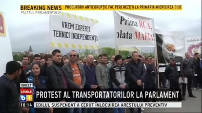 protest transportatori - foto (captura video)  B1.ro