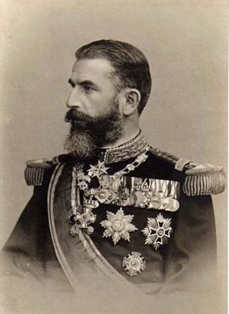 Carol I al României, Principe de Hohenzollern-Sigmaringen, pe numele său complet Karl Eitel Friedrich Zephyrinus Ludwig von Hohenzollern-Sigmaringen, (n. 20 aprilie 1839, Sigmaringen - d. 10 octombrie 1914, Sinaia) a fost domnitorul, apoi regele României, care a condus Principatele Române și apoi România după abdicarea forțată de o lovitură de stat a lui Alexandru Ioan Cuza. Din 1867 a devenit membru de onoare al Academiei Române, iar între 1879 și 1914 a fost protector și președinte de onoare al aceleiași instituții - foto: ro.wikipedia.org