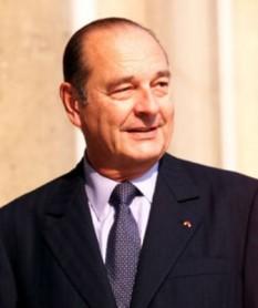 Jacques René Chirac (n. 29 noiembrie 1932 la Paris) este un politician francez. A fost ales președinte al Republicii Franceze în 1995 și 2007, totodată co-principe al Andorrei - foto: ro.wikipedia.org