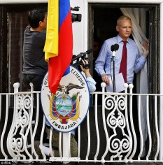 Julian Assange - foto preluat de pe dailymail.co.uk