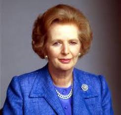 Margaret Hilda Thatcher, Baroneasă Thatcher, (n. 13 octombrie 1925 - d. 8 aprilie 2013) a fost un om politic britanic, prim-ministru al Regatului Unit între 1979 și 1990. Baroneasa Thatcher a fost singura femeie aleasă în funcția de prim-ministru sau lider al unui partid politic major în Regatul Unit, precum și primul premier britanic ales de trei ori consecutiv (1979, 1983 și 1987), record politic pe care l-a egalat numai Tony Blair în 2005. A devenit membru al Parlamentului britanic în 1959. Este una dintre cele mai importante personalități politice britanice, mandatul său fiind cel mai lung mandat continuu din istoria politică britanică. Ea este de asemenea una dintre cele mai controversate figuri politice, fiind prima femeie prim-ministru din întreaga istorie a Europei - foto: cersipamantromanesc.wordpress.com