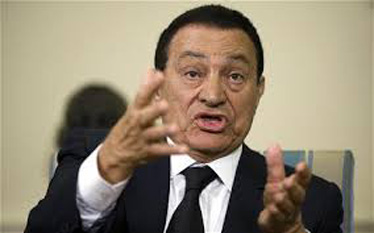 Muhammad Hosni Sayyd Mubarak (n. 4 mai 1928) a fost cel de-al IV-lea președinte al Egiptului, din 14 octombrie 1981 după ce președintele Anwar Sadat fusese asasinat la data de 6 octombrie, 1981. A demisionat in ziua de 11 februarie 2011, în urma unor îndelungi proteste.Acesta a stat 30 ani în fruntea guvernului egiptean și a fost șef al partidului PND - foto: cersipamantromanesc.wordpress.com