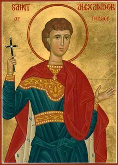 Sfântul Mucenic Alexandru. Prăznuirea sa de către Biserica Ortodoxă se face la data de 10 iunie - foto preluat de pe doxologia.ro