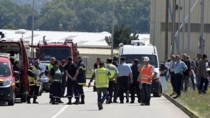 Atac la o uzină din Franţa - foto - stiri.tvr.ro (lemonde.fr)