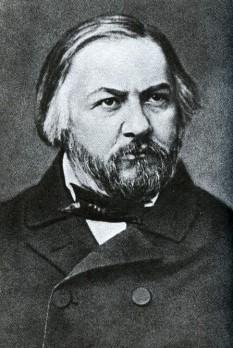 """Mihail Ivanovici Glinka (n. 1 iunie 1804 – d. 15 februarie 1857) a fost un compozitor rus. Compozitor genial rus,numit parintele muzicii clasice ruse.El a pus baza operei nationale ruse si a muzicii simfonice.A scris prima Opera rusa,,Ivan Susanin"""" si ,,Viata pentru Tara"""" avind un succes desosebit.Compune ,,Romanta"""",Cintaretul sarac"""",,Albumul de piese pentru pian""""este opera fantastica,Ruslan si Ludmila"""".Face cunostinta cu Berlioz.Compune si creeaza creatii simfonice.Uvertura,Camarinskaia,Valsul-fantezie. Muzica secolului XIX trebuia sa fie una cu caracter predominant național. Acest lucru l-a înțeles și Mihail Ivanovici Glinka, care a fost adeptul operei cu influențe folclorice, folosind melodii cu caracter modal, orchestrația fiind inspirată din sonoritățile timbrale populare, iar subiectele alese, din legendele, miturile și istoria poporului rus. De asemenea, textul utiliza limba rusa - foto - ro.wikipedia.org"""