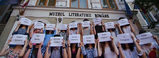 Protest la Muzeul Literaturii Române (iunie 2014) - foto - taranista.wordpress.com
