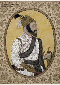 Shivaji Bhonsle (c. 1627/1630 – 3 April 1680), also known as Chhatrapati Shivaji Maharaj, was an Indian warrior king and a member of the Bhonsle Maratha clan - Shivaji's portrait (1680s) housed in the British Museum - foto - en.wikipedia.org
