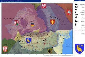 Țara Româneascǎ între secolele al XIII-lea–al XVI-lea - foto - ro.wikipedia.org