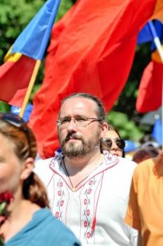 """Alexandru Cristian Surcel - """"Răzeş, la finalul Marşului lui Ştefan cel Mare"""" - foto - facebook.com"""