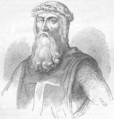 Godfroy de Bouillon (c. 1060, Boulogne-sur-Mer – 18 iulie 1100, Ierusalim) cavaler medieval, unul dintre liderii Primei Cruciade din 1096 până la moartea sa -  foto - ro.wikipedia.org