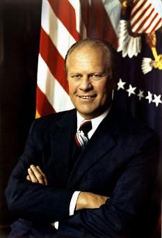 Gerald Rudolph Ford, Jr., cunoscut mai ales ca Gerald Ford, (n. 14 iulie 1913 — d. 26 decembrie 2006), cel de-al patruzecilea vicepreședinte (1973 - 1974) și cel de-al treizeci și optulea președinte al Statelor Unite ale Americii (1974 - 1977) -  foto: ro.wikipedia.org