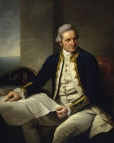 James Cook (n. 7 noiembrie 1728 - d. 14 februarie 1779) explorator, navigator și cartograf englez ce a ajuns la rangul de căpitan în Marina Regală - in imagine, James Cook, portret de Nathaniel Dance-Holland, circa 1775, expus la Muzeul Maritim Național din Greenwich - foto: en.wikipedia.org