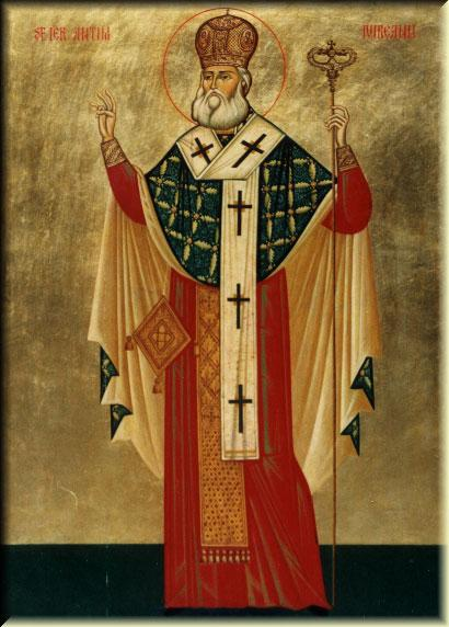 Sfântul Ierarh Martir Antim Ivireanul s-a născut în Iviria (Georgia de astăzi), în anul 1650, dar activitatea sa în slujba bisericii și-a desfășurat-o în Ţara Românească. A fost, pe rând, egumen al mânăstirii Snagov, episcop de Vâlcea și mitropolit al Ţării Românești. În același timp, a fost și un mare om de cultură: tipograf, gravor, teolog și autor al celebrelor Didahii (o colecție de predici folosite la Marile Sărbători de peste an). La insistențele Porții Otomane, a fost exilat în anul 1716. Şi-a dat viața ca un martir pentru credința creștină, fiind ucis de ostașii care îl escortau pe drumul exilului. Biserica Ortodoxă Română îl prăznuiește pe data de 27 septembrie - foto: doxologia.ro