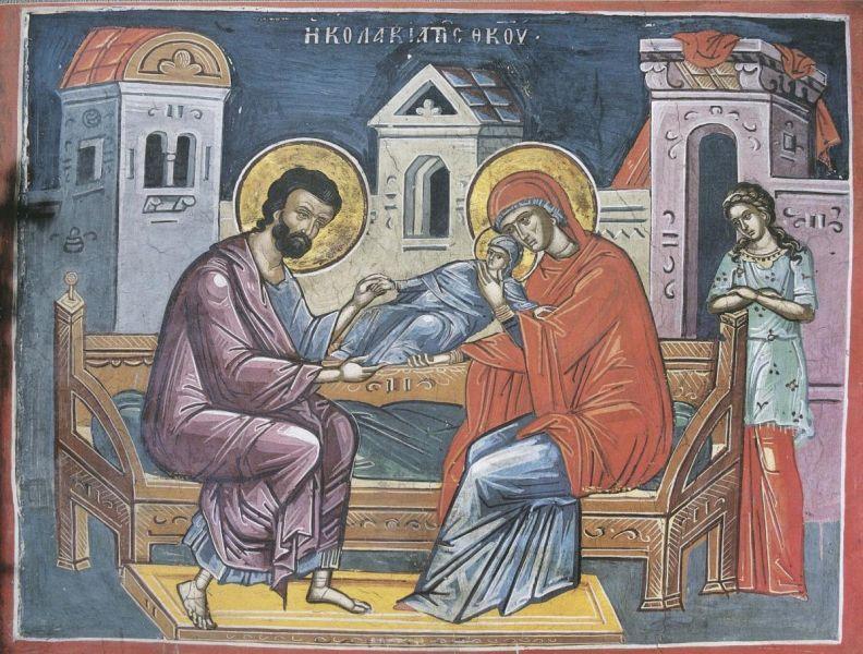 Sfinții și drepții Ioachim și Ana sunt părinții Maicii Domnului, bunicii lui Iisus Hristos. Prăznuirea lor are loc în 9 septembrie, a doua zi după Nașterea Maicii Domnului, iar adormirea Sfintei Ana se prăznuiește în 25 iulie - foto preluat de pe doxologia.ro
