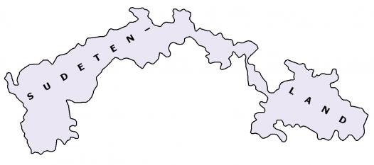 Harta Reichsgau Sudetenland - foto: ro.wikipedia.org