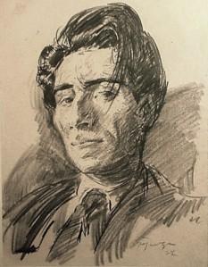 Aurel Jiquidi (n. 25 octombrie 1896, București – d. 4 februarie 1962, București), pictor și grafician român, fiul graficianului Constantin Jiquidi (1865 - 1899). Lucrările sale sunt inspirate din realitățile sociale ale primei jumătăți a secolului 20 - in imagine, Aurel Jiquidi, autoportret din anii 1930- foto: ro.wikipedia.org