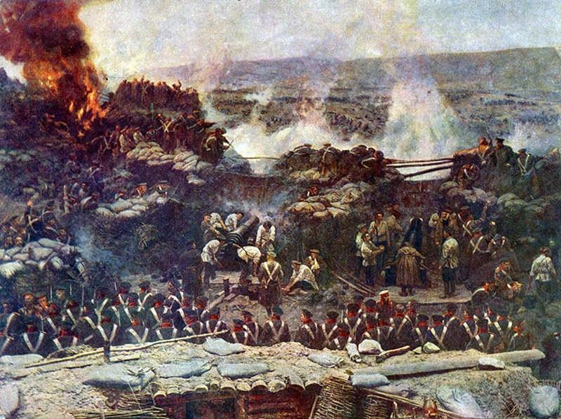Războiul Crimeii (1853–1856) Asediul Sevastopolului -  foto preluat de pe ro.wikipedia.org