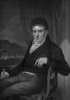 Robert Fulton (n. 14 noiembrie 1765, Little Britain, astăzi Fulton, Pennsylvania – d. 24 februarie 1815, New York) a fost un inginer și inventator american, creditat incorect pentru mult timp ca fiind constructorul primei nave acționate de forța aburilor, Clermont (1807), cu care a întreprins o călătorie de la New York la Albany pe râul / fluviul Hudson.În  schimb, în mod corect, Fulton poate fi creditat a fi fost autorul planurilor și constructorul efectiv ale primelor nave cu aburi complet operaționale, precum și a primului submarin funcțional, comandat de Napoleon Bonaparte, denumit Nautilius, care a fost testat în 1800. Deși lista inginerilor, constructorilor și întreprinzătorilor care au încercat să realizeze vase care să fie acționate mecanic este lungă, începând cu însuși realizatorul motorului cu aburi cu regulator centrifugal, James Watt, importanța lui Robert Fulton în istoria ingineriei și a navigației constă în realizarea primelor nave acționate mecanic, care erau complet funcționale, operaționale și fiabile. El a adus un aport important împreună cu John Ericsson, Francis Pettit Smith, David Bushnell și Josef Ressel la perfecționarea tehnicii navigației - in imagine, Gravură postumă înfățișându-l pe Robert Fulton (1873) - foto: ro.wikipedia.org