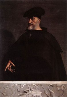 Andrea Doria (sau D'Oria) (n. 30 noiembrie 1466 - d. 25 noiembrie 1560), om politic care a fost în fruntea Genovei din 1528 până în 1560 când a murit - foto (Portretul lui Andrea Doria, cca. 1520, de Sebastiano del Piombo): ro.wikipedia.org