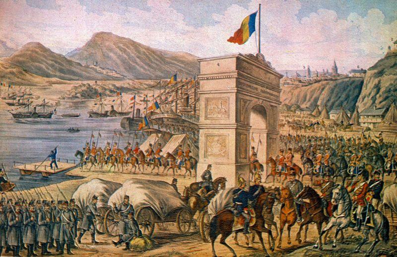 Trecerea Dunarii. Autorităţile româneşti preiau administraţia Dobrogei (1878) - foto: cyd.ro