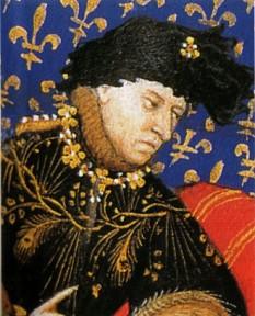 Carol al VI-lea (3 decembrie 1368 – 21 octombrie 1422), rege al Franței din 1380 până în 1422 și membru al Casei de Valois. A fost cunoscut sub numele de Carol cel Mult-Iubit (franceză le Bien-Aimé) și mai târziu drept Carol Nebunul (franceză le Fol sau le Fou). Crizele lui de nebunie au început în 1392 și au dus la certuri în familia regală franceză, lucru exploatat de puterile vecine Anglia și Burgundia. Până la sfârșitul domniei sale o mare parte din Franța, a fost sub ocupație străină. foto: ro.wikipedia.org