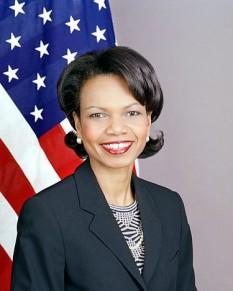 Condoleezza Rice (născută la 14 noiembrie 1954 la Birmingham în Alabama), secretar de stat (ministru de externe SUA) al Statelor Unite ale Americii între ianuarie 2005 - ianuarie 2009 - foto: ro.wikipedia.org