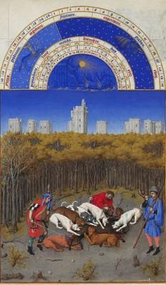 Decembrie - Les Très Riches Heures du duc de Berry - foto: ro.wikipedia.org