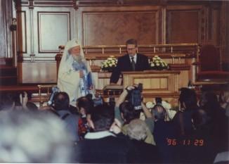 29 noiembrie 1996: Noul președinte al României, Emil Constantinescu, depune jurământul constituțional - foto: cersipamantromanesc.wordpress.com