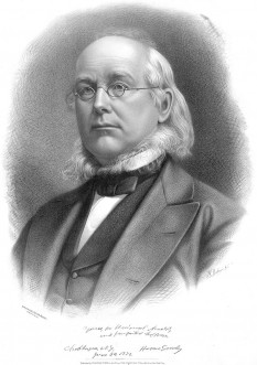 Horace Greeley (February 3, 1811 – November 29, 1872) was editor of the New-York Tribune, among the great newspapers of its time  foto: en.wikipedia.org