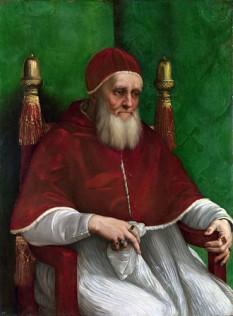 Papa Iulius al II-lea, pe numlele civil Giuliano della Rovere, papă al Romei. A fost unul din precursorii Renașterii. I-a încredințat lui Michelangelo pictarea plafonului Capelei Sixtine. foto: ro.wikipedia.org