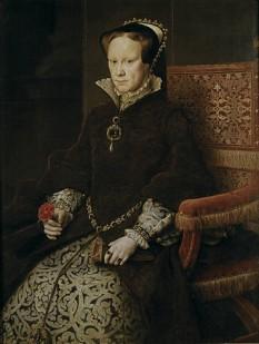 Maria I (engleză Mary I) (n. 18 februarie 1516 – d. 17 noiembrie 1558), cunoscută și sub numele de Maria Tudor, regina Angliei și regina Irlandei din 6 iulie 1553 (de facto) sau 19 iulie 1553 (de jure) până la moartea sa în 17 noiembrie 1558 - foto: ro.wikipedia.org