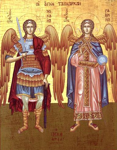 Sfinţii Arhangheli Mihail şi Gavriil. Prăznuirea lor de catre Biserica Ortodoxă se face la data de 8 noiembrie - foto preluat de pe doxologia.ro