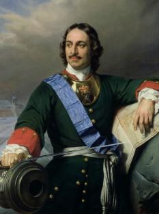 Petru I (Petru cel Mare) (n. 9 iunie [S.V. 30 mai] 1672 – d. 8 februarie [S.V. 28 ianuarie] 1725) a condus Rusia din 7 mai (27 aprilie) 1682 până la moartea sa - in imagine, Petru cel Mare in 1838 - foto: ro.wikipedia.org