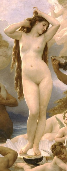 Venus (detaliu) de William Adolphe Bouguereau  foto: ro.wikipedia.org