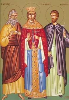 Sfânta Împărăteasă Teofana, Sfântul Prooroc Agheu, Sfântul Mucenic Marin (sec. III). Biserica Ortodoxă ii prăznuiește pe 16 decembrie - foto: basilica.ro