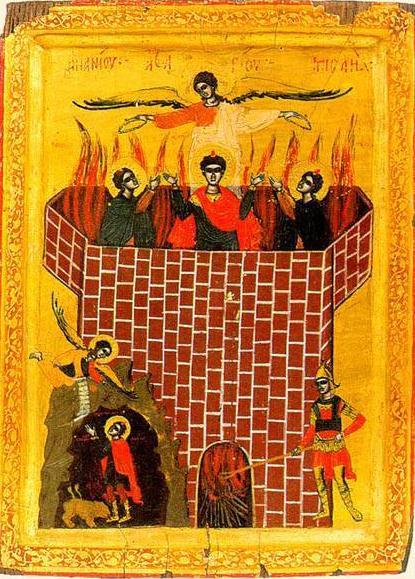 Sfântul Prooroc Daniel și Sfinții trei tineri: Anania, Azaria și Misail. Pomenirea lor de catre Biserica Ortodoxa se face la 17 decembrie - foto: doxologia.ro