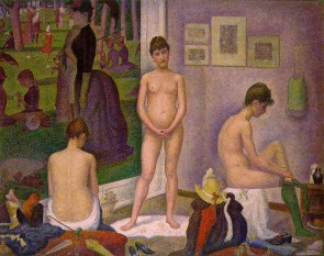 "Georges Seurat: ""Modelele"" (1888) - foto:  ro.wikipedia.org"