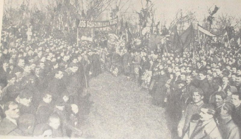 Demonstrație la funerariile lui  Ion C. Frimu - foto: en.wikipedia.org