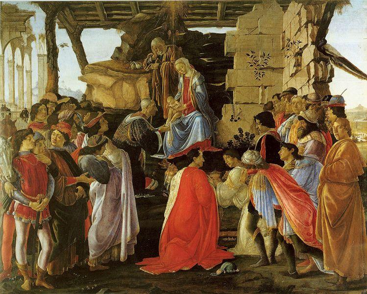 """""""Adorația magilor"""" (Sandro Botticelli, 1475) - foto: ro.wikipedia.org"""