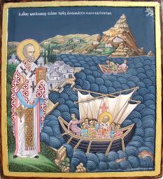 Sfântul Nicolae din Mira (n. ca.280, Patara, Lichia — d. ca.345, Mira, astăzi Kocademre, în apropiere de Kale, Turcia), episcop  foto: doxologia.ro