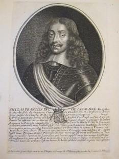 Nicolas François (6 decembrie 1609 – 25 ianuarie 1670), de asemenea cunoscut ca Nicolas al II-lea, a fost Duce de Lorena și Duce de Bar timp de câteva luni în anul 1634. A fost Duce în timpul invaziei lorene de către francezi în Războiul de Treizeci de Ani - foto:  ro.wikipedia.org