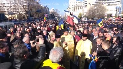 Bucuresti - Piata Universitatii: 21 decembrie 2015 - foto (captura): youtube.com