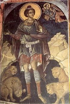 Sfântul Proroc Daniel a fost unul din cei mari patru prooroci ai Vechiului Testament (alături de Isaia, Ieremia şi Iezechia). Şi-a desfășurat activitatea la curţile regilor Nabucudonosor, sporadic la Belşaţar, apoi la împăraţii persani Darius şi Cirus. Biserica Ortodoxă îl prăznuieşte la 17 decembrie - foto (Sfântul Proroc Daniel in groapa cu lei): calendar-ortodox.ro