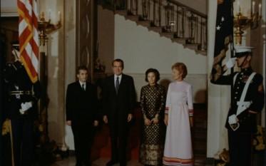 Ceauşescu, Richard Nixon, Elena Ceauşescu şi Patricia Nixon înaintea dineului de la Casa Albă - foto:: Arhivele Nationale