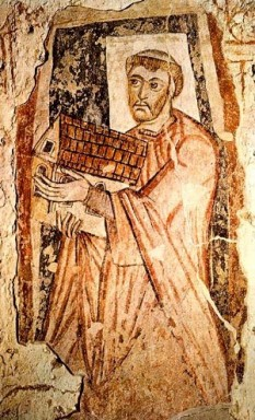 Benedict Biscop (c. 628 – 690), also known as Biscop Baducing, was an Anglo-Saxon abbot and founder of Monkwearmouth-Jarrow Priory (where he also founded the famous library) and was considered a saint after his death - foto: cersipamantromanesc.wordpress.com