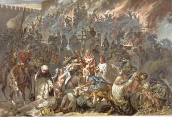 """""""Moartea Neagră"""" a fost una din cele mai violente pandemii din istoria lumii, despre care se crede că ar fi fost cauzată de o bacterie numită Yersinia pestis. A izbucnit, probabil, în Asia, răspândindu-se în Europa după anul 1347, unde a creat mare panică. Durerile îngrozitoare, transpirația și frisoanele erau principalele simptome ale bolii. Totuși mai era ceva care îi deosebea pe cei care sufereau de ciumă de cei care aveau doar febră mare: în zona axilară, pe gât, și eventual în zona inghinală apăreau niște umflături pline cu puroi, numite """"buboane""""; la început erau de culoare roz, apoi purpurii, iar în final negre, putând ajunge la dimensiunea unor portocale. Victimele mureau în chinuri groaznice. În câțiva ani, între o treime și o jumătat din populația Europei a murit. Mulți care au trăit pe vremea când Moartea Neagră a bântuit Europa au crezut că venise sfârșitul lumii - foto: ro.pinterest.com"""
